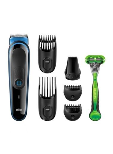 Braun MGK3040 Çoklu Bakım Kiti Siyah/Mavi – Erkekler Için Yedisi Bir Arada Sakal / Saç Ve Vücut Tüyü Şekillendirici, 7 in 1 Renkli